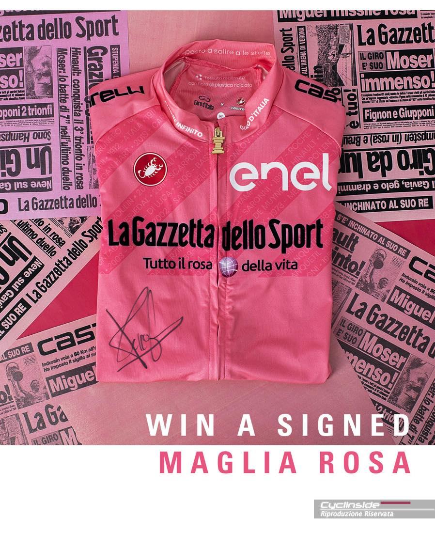 Concorso Maglia Rosa autografata